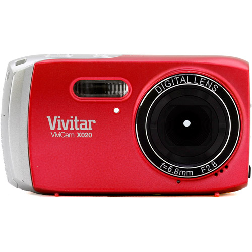 Vivitar Red ViviCam VX020 Digital Camera with 10.1 Megapixels