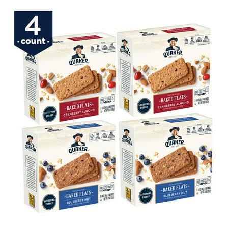 Bar Cranberry Almond (Quaker Baked Flats, Blueberry Nut & Cranberry Almond, 5-3 Bar Packs (Pack of 4) )