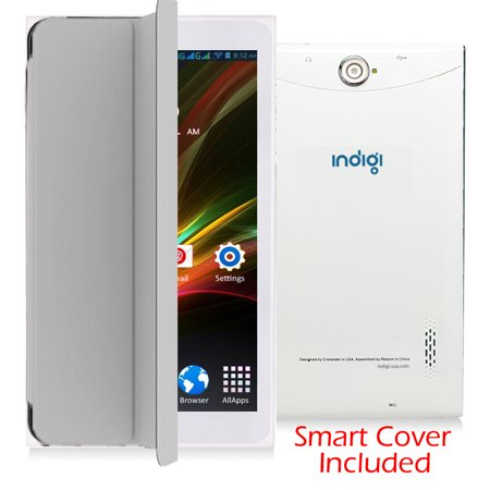 Indigi® 7inch Factory Unlocked 3G Smart Phone 2-in-1 Phablet Android 6.0 Tablet PC w/ Built-in Smart Cover (White) - image 5 of 5