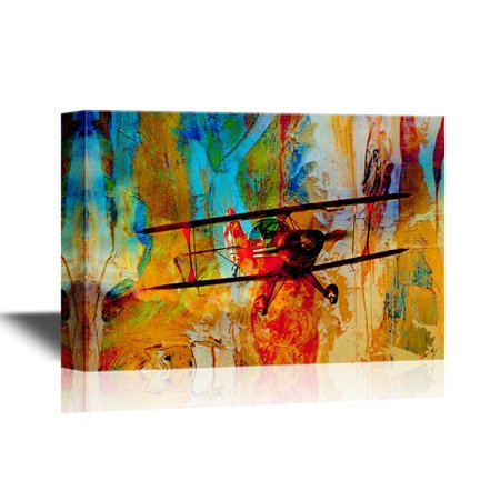 wall26 Canvas Wall Art - Abstract Flight Concept - Gallery Wrap Modern Home Decor | Ready to Hang - 16x24 inches Abstract Gallery Wrapped Canvas