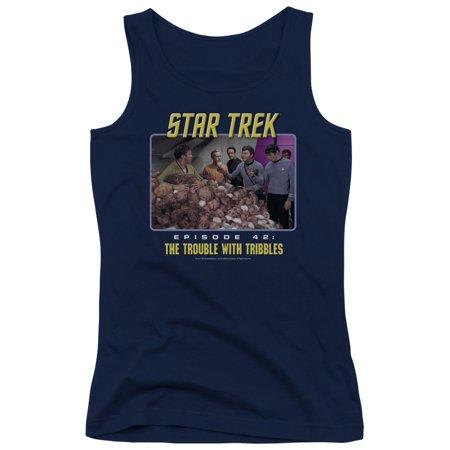 Star Trek Original Tv Kirk Spock Trouble With Tribbles Juniors Tank Top Shirt