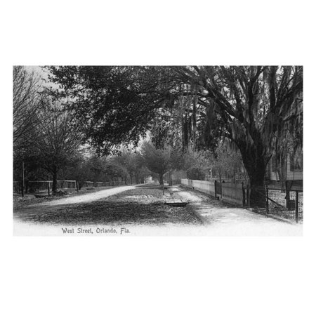Orlando, Florida - View Down West Street Print Wall Art By Lantern Press