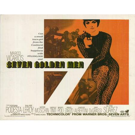 Seven Golden Men Poster Movie Half Sheet A 22x28 Walmart Com