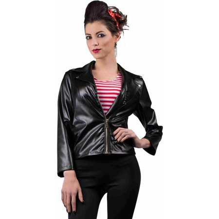 Women's 50s Greaser Faux Leather Jacket
