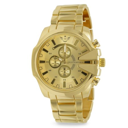 Gold V-cut Executive Classic Mens Watch (Falcons Mens Executive Watch)