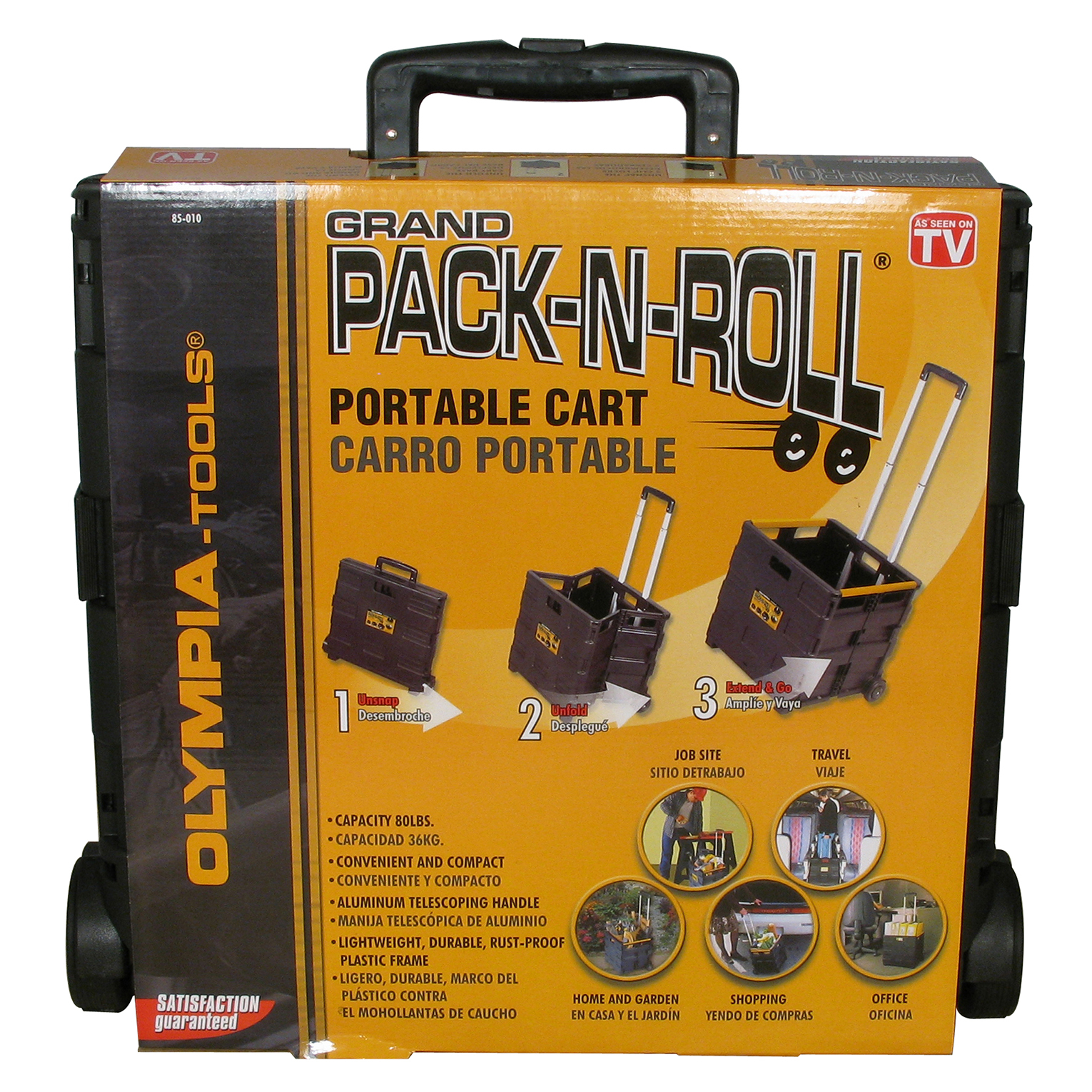 "Olympia Tools 85-010 18.5"" X 18.3"" X 3.3"" Black Portable Tool Carrier"