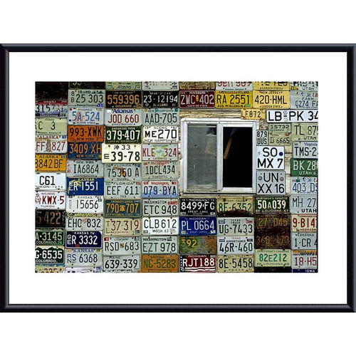 Printfinders 'License Plate Wall' by John K. Nakata Framed Textual Art