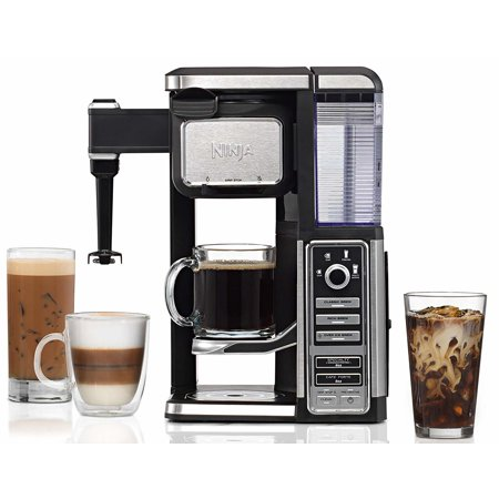 Ninja Single-Serve, Pod-Free Coffee Maker Bar with Hot and Iced Coffee, Auto-iQ, Built-In Milk Frother, 5 Brew Styles, and Water Reservoir (CF112) (Certified Refurbished) ()