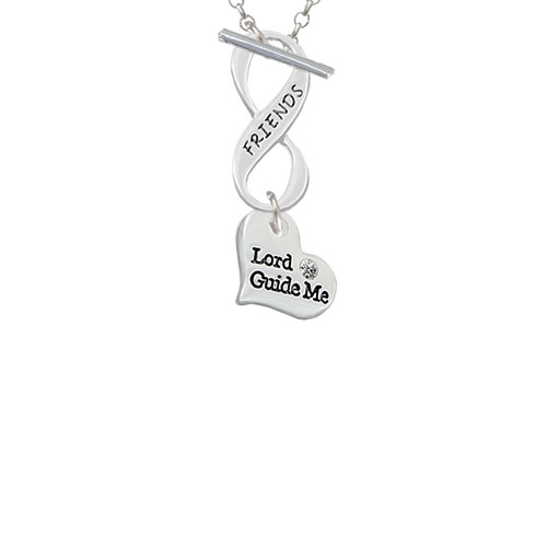 Small Lord Guide Me Heart Friends Infinity Toggle Chain Necklace