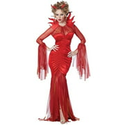 california costumes women's devilish diva costume, red, large