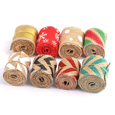 Boyijia 6cm 2m DIY Handmade Colorful Linen Roll Belt Strap Band Handcraft Party Decorative Supplies - image 9 of 9