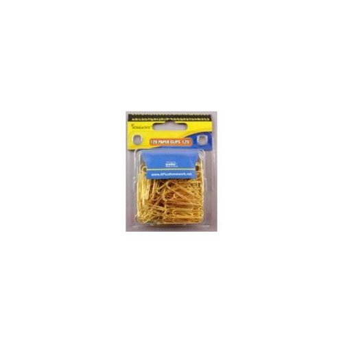 A+Homework Gold Colored Paper Clips Gold Colored Paper Clips - 1.25-in - 120 pack