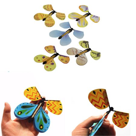 Transform Flying Butterfly Cocoon into a Butterfly Magician Trick Prop Magic Toy - 5 Pieces w/Random Color and Design (Butterfly Transform Yourself)