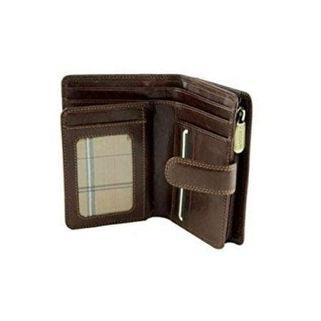 visconti monza -11 ladies large italian brown soft leather purse/wallet (brown) Brown Soft Italian