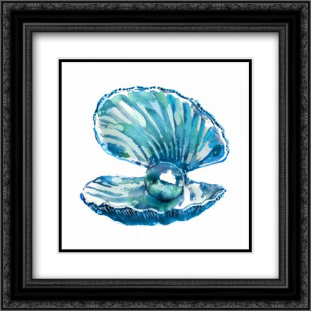 Oyster 2x Matted 20x20 Black Ornate Framed Art Print by Selkirk, Edward