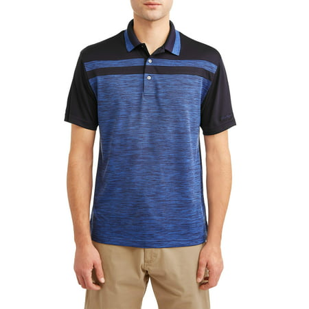 Ben Hogan Men's performance short sleeve color block golf polo (Lake Golf Shirt)