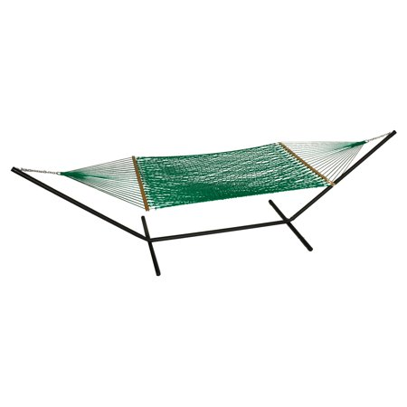 Phat Tommy Olefin Hammock and Black Hammock Stand Set