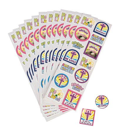 He Lives Sticker Sheet for Easter - Stationery - Stickers - Stickers - Sheets - Easter - 24 Pieces