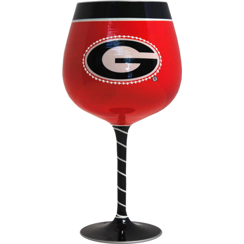 NCAA Georgia Bulldogs Artisan Wine Glass
