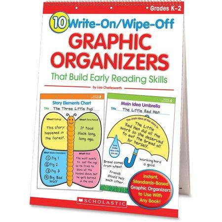 Scholastic, SHS0439827736, Res. Grade K-2 Write/Wipe Reading Flip Chart, 1 Set,