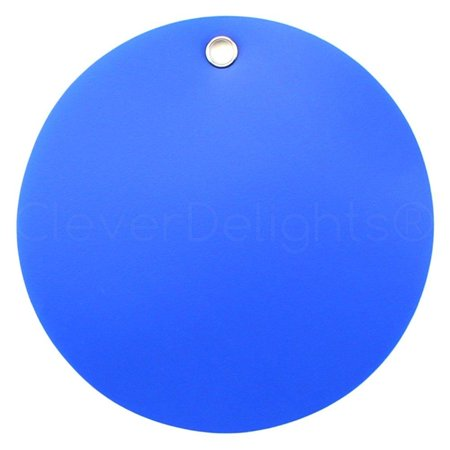 200 Pack - CleverDelights Blue Plastic Tags - 2