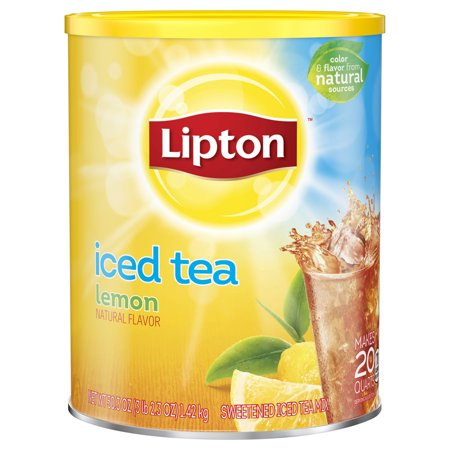Lipton Lemon Black Iced Tea Mix, 20 qt