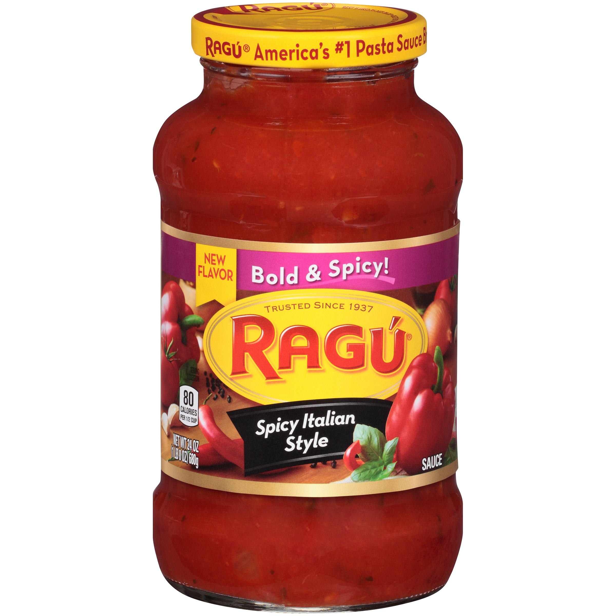 (3 Pack) Ragú Chunky Spicy Italian Style Pasta Sauce 24 oz.