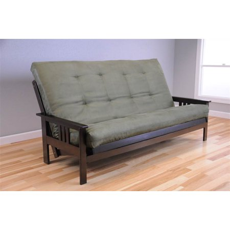 new arrival 71cb9 2c8ab Queen Size Futon Frame and Mattress Set in Espresso and Olive - Walmart.com