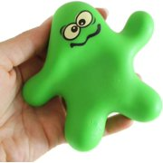 1 Squishy Sand-Filled Guy - Stretchy, Moldable Sensory, Stress, Squeeze Fidget Toy ADHD Special Needs Soothing OT Toy (RANDOM COLOR)