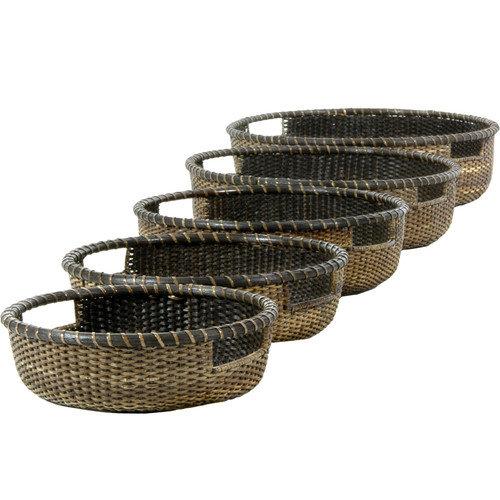 Oriental Furniture Rattan Basket Tray (Set of 5)