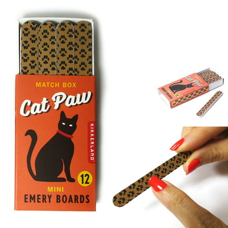 12 Cat Paws Double Sided Nail File Manicure Emery Boards Pedicure Spa Polish New (Mini Emery Boards)