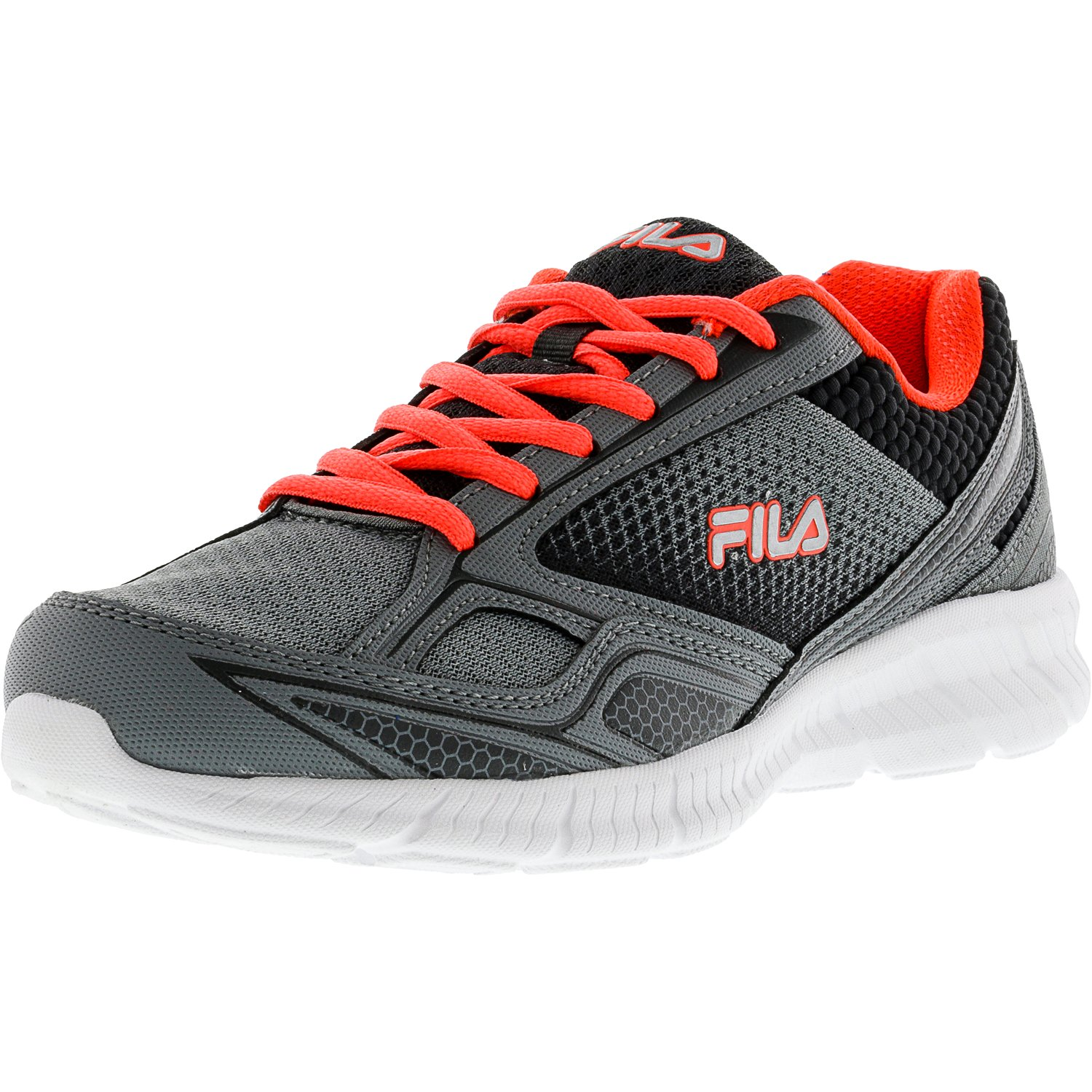 Fila Women's Memory Deluxe 17 High Rise   Royal Blue Knockout Pink Ankle-High Running Shoe 7M by Fila