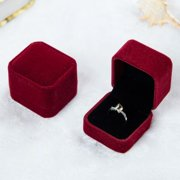 AkoaDa 2 Pcs Flannel Ring Box Wedding / Propose Jewelry Gift Box