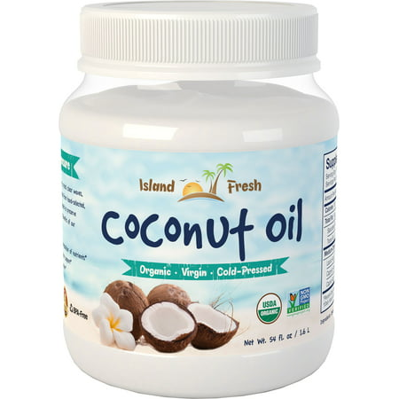 Island Fresh Organic Virgin Coconut Oil, 54 Fl Oz