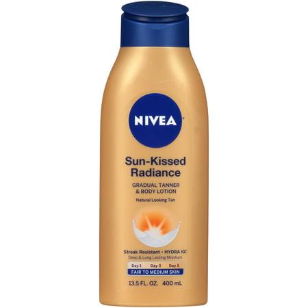Nivea Sun Kissed Radiance Fair To Medium Skin Gradual Tanner   Body Lotion 13 5 Fl  Oz
