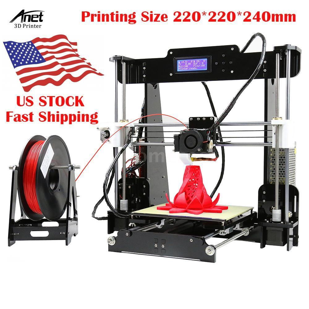 2018 Upgraded High Precision Anet A8 Reprap Prusa I3 DIY 3D Printer