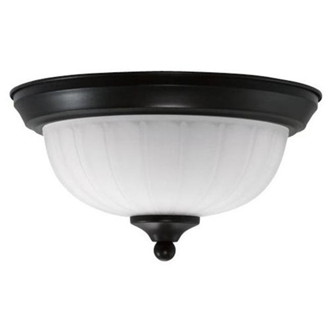 Efficient Lighting EL-805-123-BZ Traditional Family Flushmount  Oil Rubbed Bronze Finish with Alabaster Glass  Energy