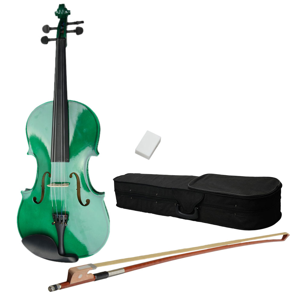 "Ktaxon 15"" 16"" Solid Wood Student Acoustic Viola with Case Rosin Bow"