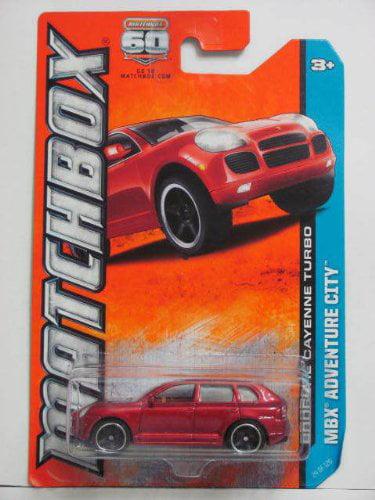 PORSCHE CAYENNE TURBO (RED) * MBX ADVENTURE CITY * 60th Anniversary Matchbox 2013 Basic... by Mattel
