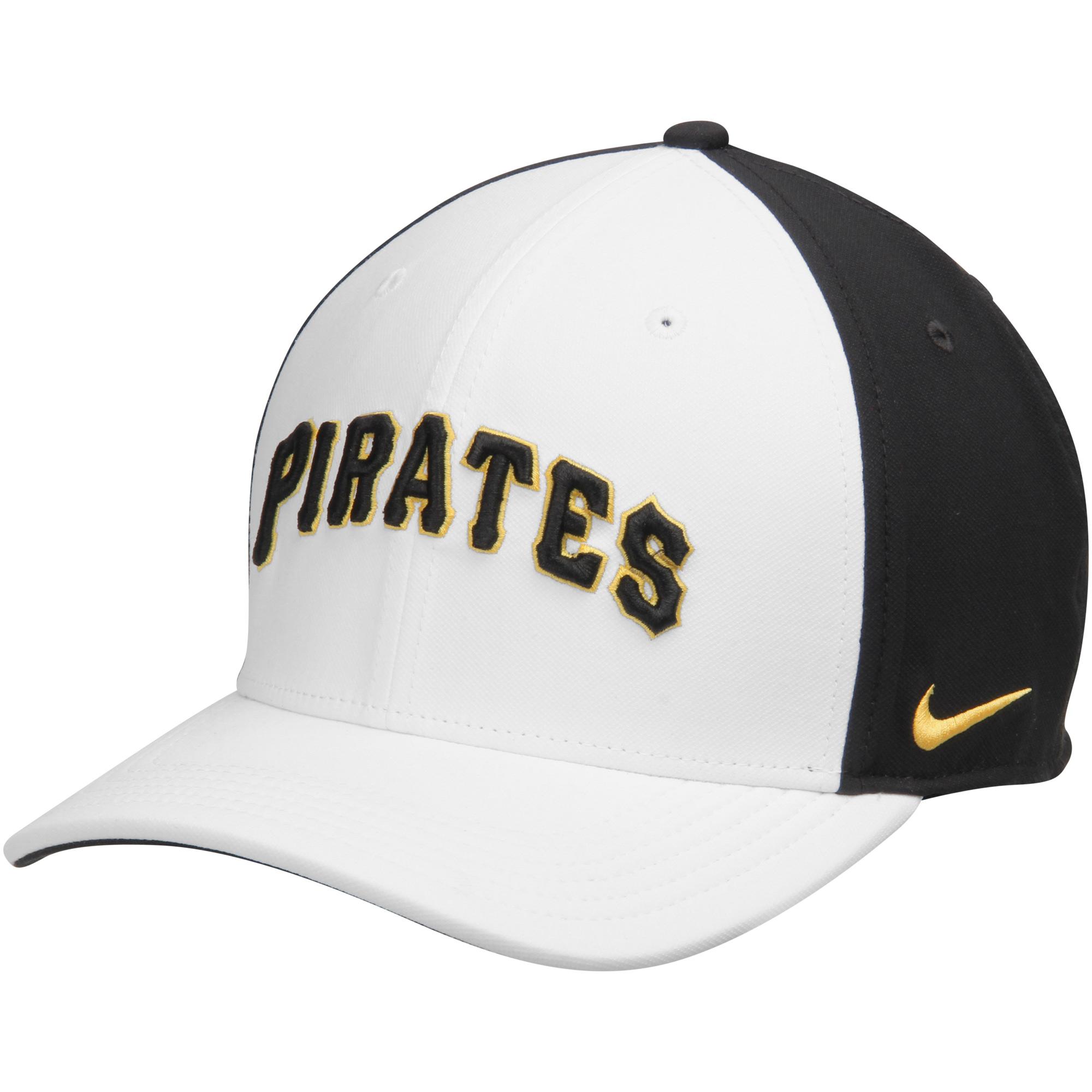 Pittsburgh Pirates Nike Color Vapor Classic Adjustable Hat - White/Black - OSFA