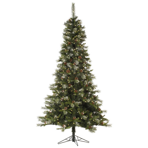 Vickerman Pre-Lit 6' Iced Sonoma Spruce Artificial Christmas Tree, LED, Warm White Lights