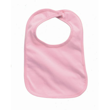 Red Infant Snap Bibs (Rabbit Skins Infant Premium Jersey Bib)