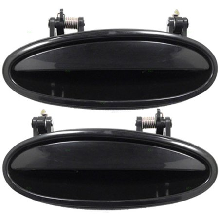 (Pair Set Rear Outside Outer Exterior Door Handles Replacement for Chevrolet Buick Oldsmobile Pontiac 10439378 10331594)