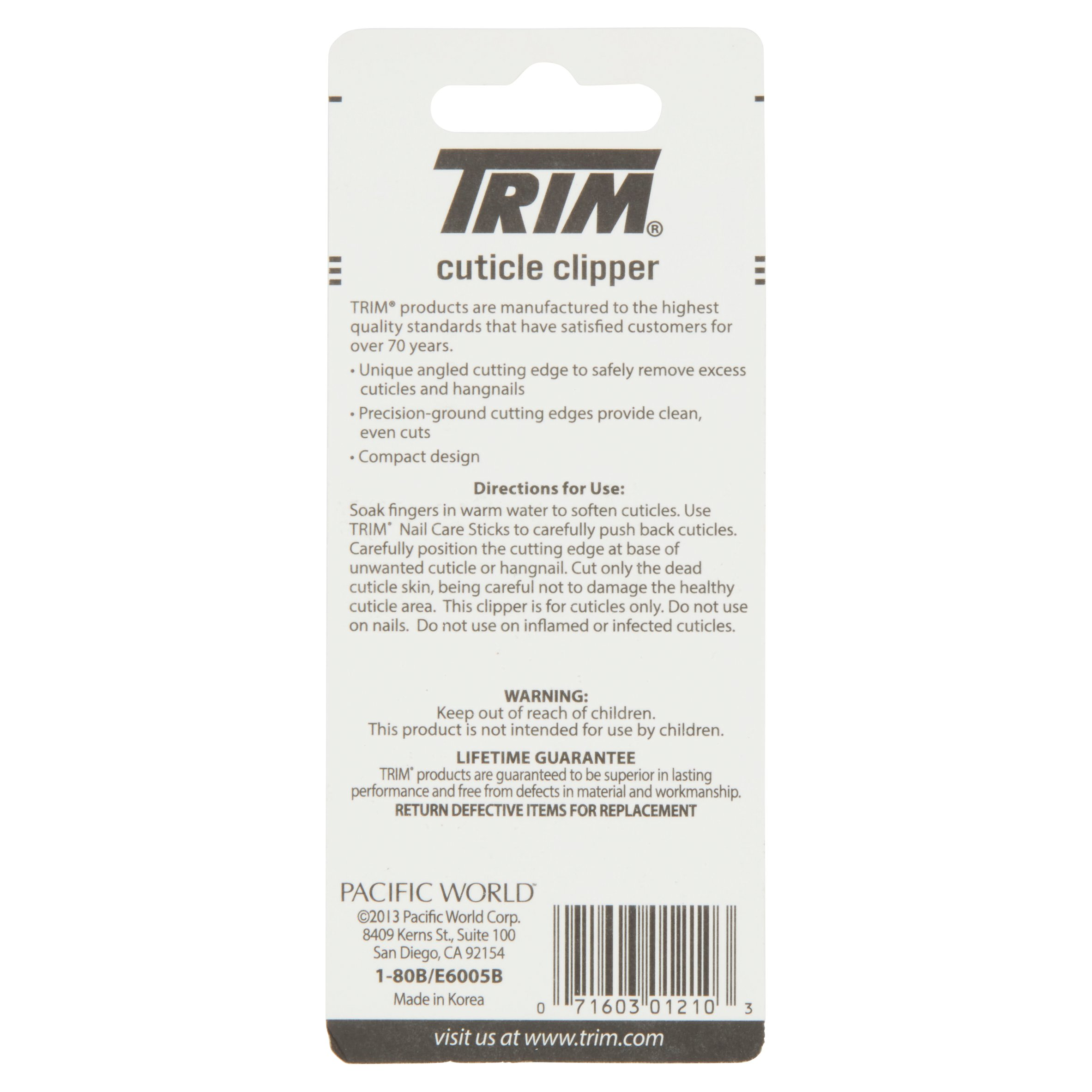 Trim Nail Care Cuticle Clipper - Walmart.com