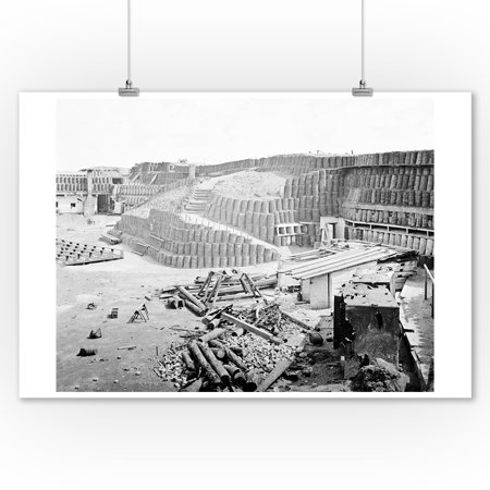 Charleston, SC - Ft. Sumter Interior #2 Civil War Photograph (9x12 Art Print, Wall Decor Travel Poster) (Charleston Photo)