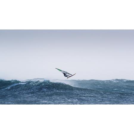 Spain Andalusia Cadiz Costa de la Luz Windsurfing Tarifa Canvas Art - Ben Welsh Design Pics (40 x 22)