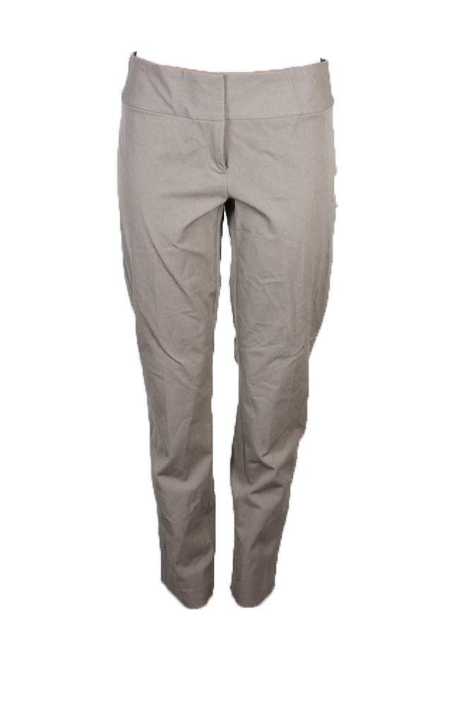 Alfani Wall Street Gray Slim Straight-Leg Pants 10