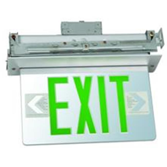 Morris Products Recessed Mount Edge Lit Led Exit Signs On Clear Panel Aluminum H