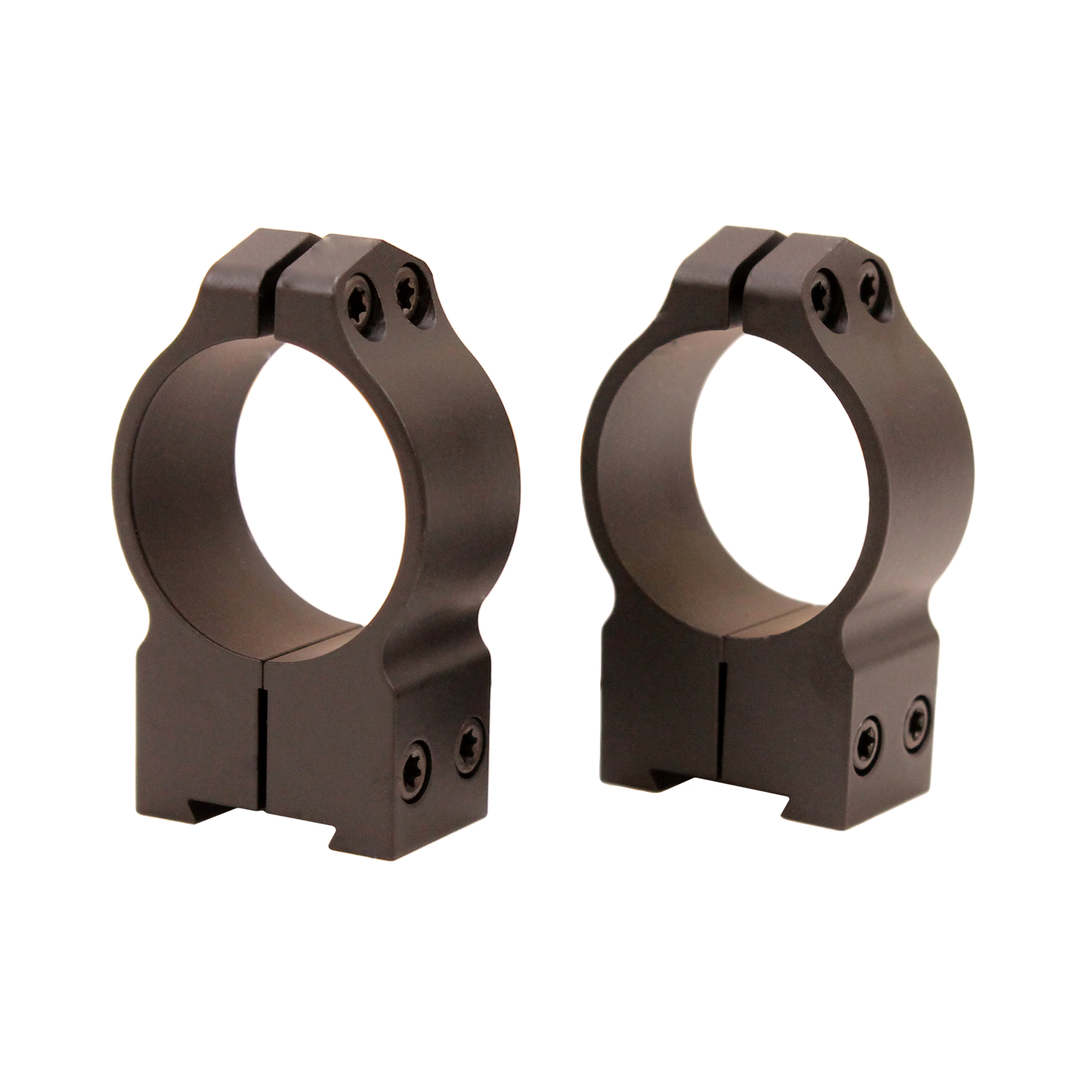 Warne Scope Mounts Permanent Attachable Ring Mounts 30mm, High Height, Tikka T3, Whitetail Hunter, and 595, Matte Black