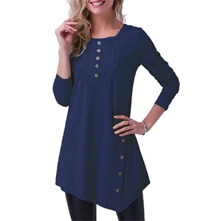 Women's Autumn and Winter Long Sleeve Round Neck Blouse Lace Print Casual Loose T-shirt](Winter Lace)